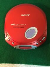 SONY Discman Walkman CD-R/RW Player D-E350  Portable CD Player Red