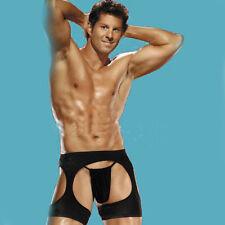 Black men sexy shorts 2pc.Chaps Plus G-String Bodysuit Lingerie Playwear
