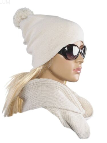 Damen Set Mütze Loopschal Winter Onesize 2teilig Mädchen Rot Beige Grau Braun