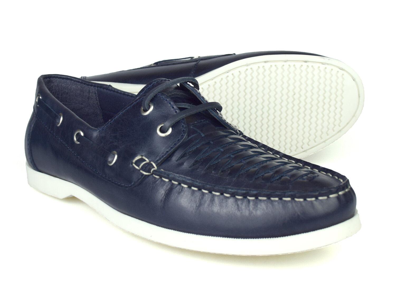 Silber Street London Mannschaft Herren Herren Herren marineblau Leder Stiefel Schuhe  86b432