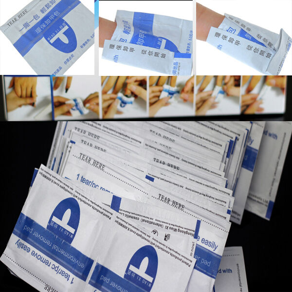 200Pcs Easy Gel Lacquer Polish Foil Remover Wraps With Acetone Nail Art Kit