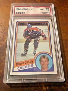 WAYNE GRETZKY 1984 TOPPS #51 PSA 8 NM-MT Edmonton Oilers