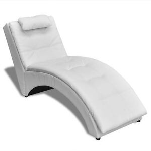 Modern Chaise Longue Indoor Chair Living Room Bedroom Tufted Leather ...