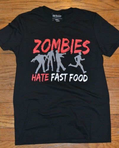 Zombies Hate Fast Food Zombie Tee Urban Pipeline T-Shirt New with Tags