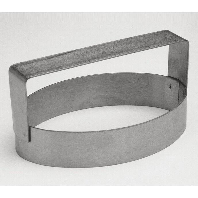 Cutter, Oval Cannoli, Heavy Duty Stainless Steel