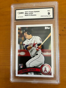 MIKE-TROUT-2011-TOPPS-UPDATE-US175-Graded-9-Mint-ROOKIE-BEAUTIFUL-CARD