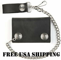 Made In Usa Buffalo Snap Motorcycle Biker Chain Leather Wallet Free Usa Ship