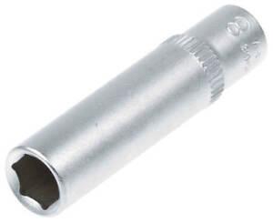 Steckschluessel-SW-8-mm-1-4-Zoll-Werkzeug-Kfz-Stecknuss-Aussen-Sechskant-lang-Nuss