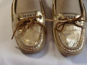 Sperry Top Siders Gold patent leather