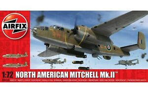 AIRFIX-1-72-NORTH-AMERICAN-MITCHELL-MK-II-MODEL-AIRCRAFT-KIT-WW2-PLANE-A06018