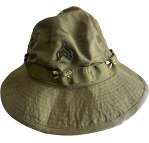 Vietnam war 1968-1971 us army boonie hat E5 sergeants rank