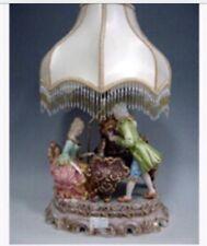 Capodimonte Style  Piano Lamp Figurine with Shade