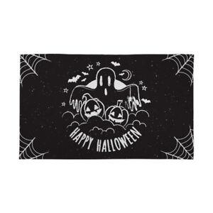 Halloween-Banniere-noir-et-blanc-fantome-decoration-effrayant-horreur-Drapeau-4