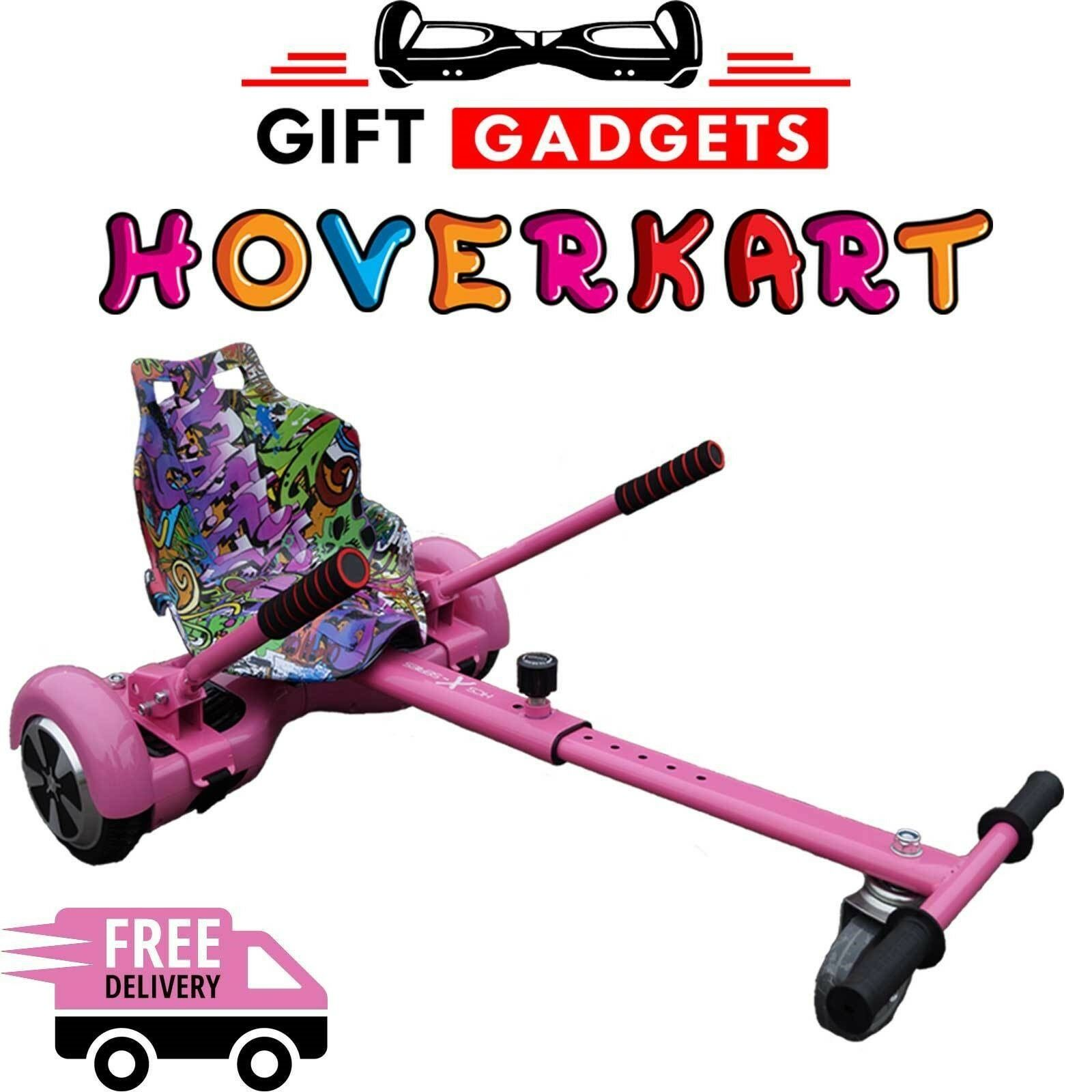 UK Graffiti Purple Pink Hoverkart GoKart Hover Kart For Balance Board Scooter