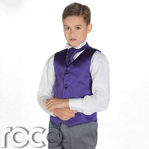 Boys Purple & Grey Suit, Page Boy Suits, Boys Wedding Suits