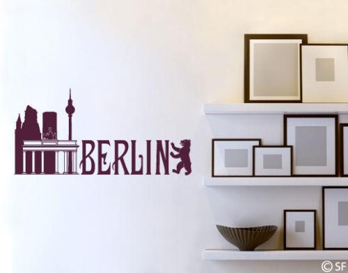Wandtattoo Berlin Skyline Wandaufkleber Flur Brandenburger Tor uss055 Wohnzimmer