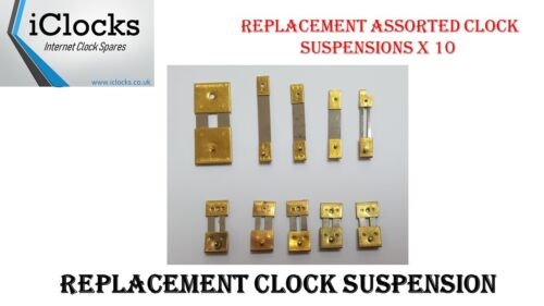 Strike UK French Chime 10x Brass Assorted Clock Pendulum Suspension Springs