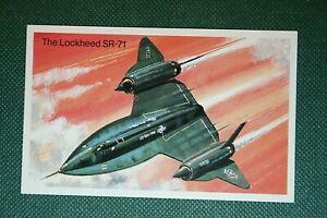 LOCKHEED SR-71   USAF Strategic Reconnaissance  Aircraft  Illustrated  Card
