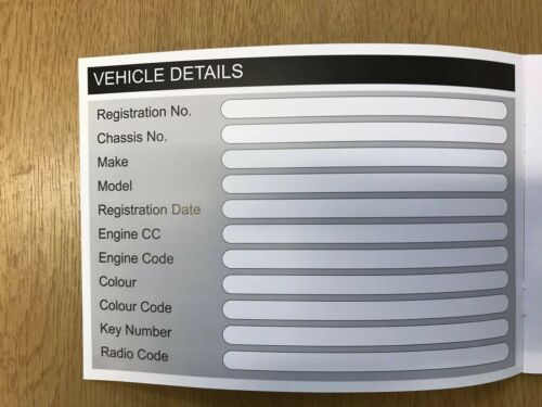 Ford Kuga Service Book New Unstamped History Maintenance Record Free Postage