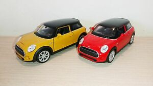 New-Mini-Hatch-Diecast-Scale-Model-Car-Scale-1-38-Red-Yellow-Collectors-NEW
