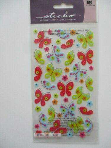 SPICY BUTTERFLIES butterfly with glitter STICKO STICKERS