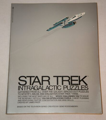 1977 STAR TREK INTRAGALACTIC PUZZLES BOOK NO WRITING