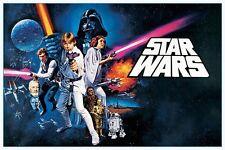 Cartel de la guerra de las galaxias-Una Nueva Esperanza Paisaje-Nuevo Star Wars Poster PP33337