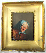 Excellent Vintage Reproduction O/B Italian Master Painting of a Peasant Woman