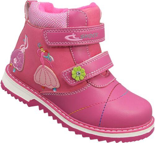 Mädchen Boots Kinder Winter Schuhe Stiefel warm gefüttert Gr.26-31 Nr.714