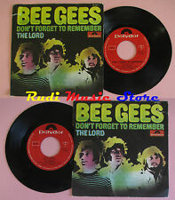 LP 45 7''BEE GEES Don't forget to remember The lord 1969 italy POLYDOR *mc dvd