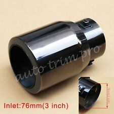 """Universal 76mm 3"""" Inch Inlet Rear Exhaust Muffler Tail Pipe End Tip Accessories"""