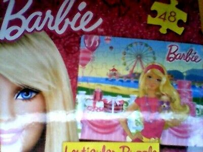 "Barbie Lenticular 48 Piece Puzzle 12"" X 9"" - Barbie Holding Dog At Party"