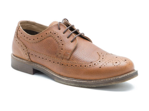Red Tape Thorney miel Zapatos Formal De Hombre De Cuero Tostado Molido Gratis Reino Unido P/&p RRP £ 50!