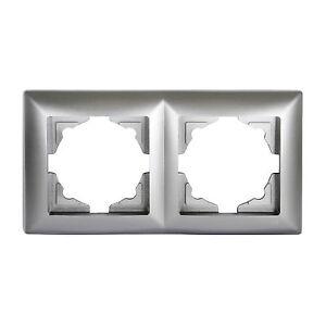 Gunsan-Visage-2-fach-Rahmen-fuer-Steckdosen-Schalter-Dimmer-Silber-01281500000141
