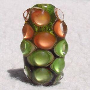 YUZU Handmade Art Glass Focal Bead Flaming Fools Lampwork Art Glass SRA