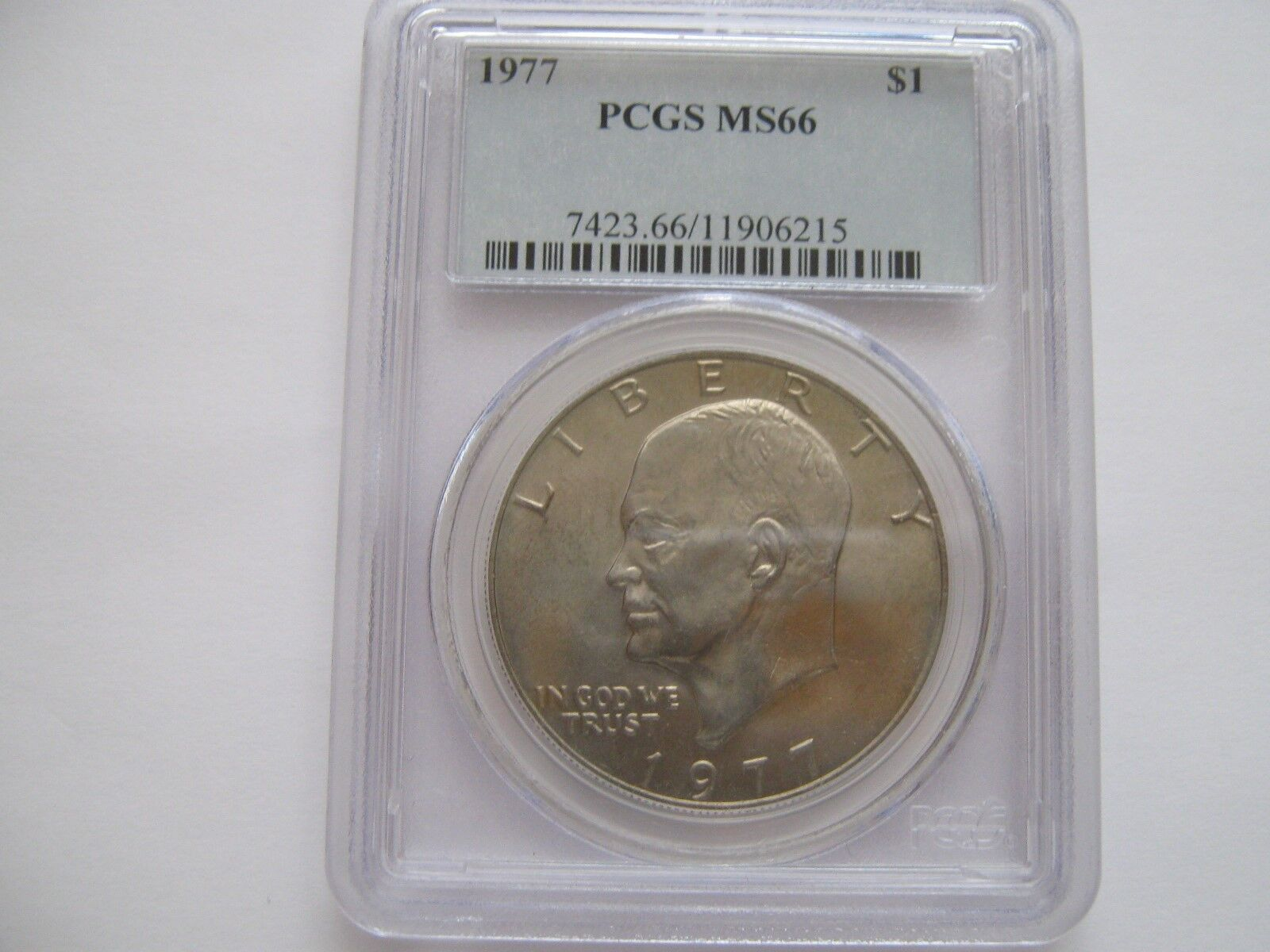 1977 , Eisenhower Dollar , PCGS , MS 66