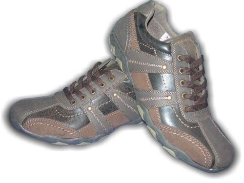 Baskets pour homme marron à lacets style décontracté en daim synthétique synthétique route21 m176b Tailles 7-11