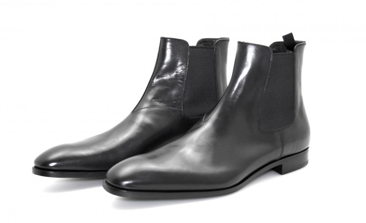 BOTTINE PRADA LUXUEUX zapatos 2TB016 negro NOUVEAUX 10,5 44,5 45