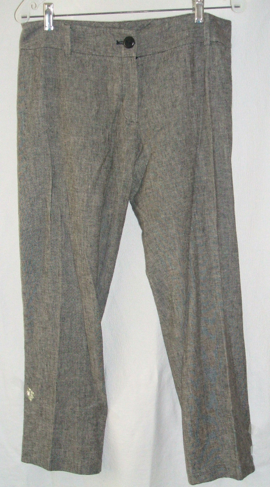 LADIES ISDA & CO LINEN BLEND CROPPED PANTSSZ 6NWTGS