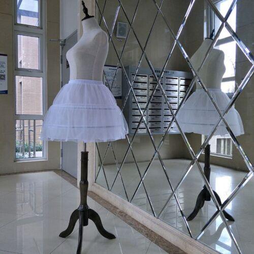 Bridal Single Layer Chiffon Lolita White Short Petticoat Tutu Lace Trim Princess