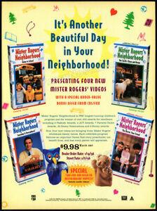 MISTER-ROGERS-039-NEIGHBORHOOD-Orig-1996-Trade-AD-TV-series-video-promo-FRED