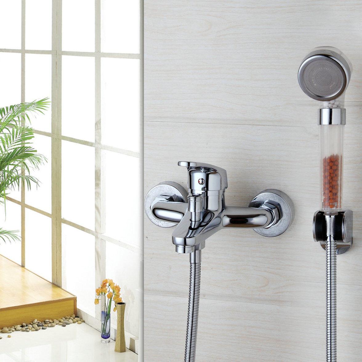 Wall Faucets Bathroom: Bathroom Mixer Wall Mounted Bathtub Tap Chrome Brass Bath