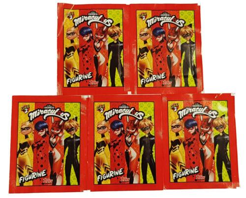 Topps Miraculous Ladybug Sticker Série 5 stickers sacs 25 stickers de la gamme
