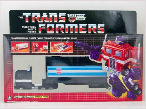 TRANSFORMERS G1 Reissue AUTOBOT Black Optimus Prime Christmas Birthday Gift Toy