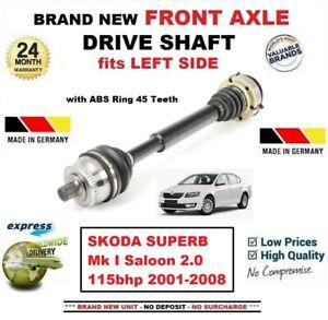 Pour-Skoda-Superb-Mk-I-Berline-2-0-115bhp-2001-2008-Neuf-Avant-Axe-Gauche-Arbre