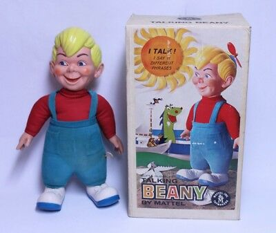 7998ef4ff2f SUPER CLEAN MATTEL BEANY   CECIL TALKING BEANY DOLL W  BOX WORKS WELL