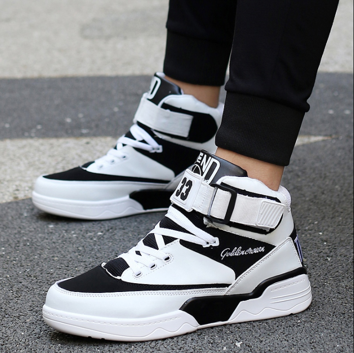 High Top Mens Sport Board shoes Lace Up Hip Pop Casual Trainer Sneakers Athletic