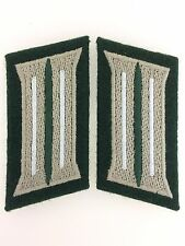 WWII German Army or Heer Infantry enlisted man's embroidered collar patches