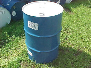 Sealed-metal-steel-55-gallon-drum-drums-barrel-barrels-food-grade-Blue