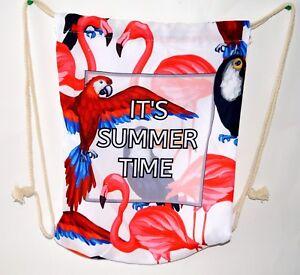 Rucksack Flamingo Gym Bag Sportbeutel Tasche Schuhbeutel Rucksack